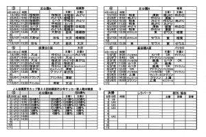 JAカップ第44回新人戦組み合わせ・日程4
